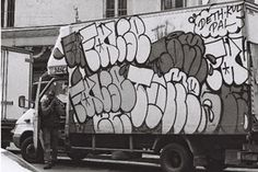 False & Tomek Truck – read more @ http://www.juxtapoz.com/Graffiti/false-a-tomek-truck – #graffiti #false #tomek