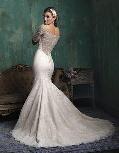 @Bellethemagazine wedding dresses | Allure Couture 2015 Collection | Floor Ivory Mermaid / Trumpet Scoop $$ ($1,001-2,000)