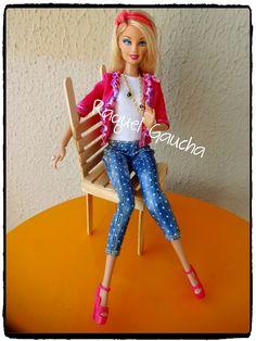 #Barbie #Silla #Cadeiradepalitosdepicolé #Muñeca #Doll #RAquelGaucha