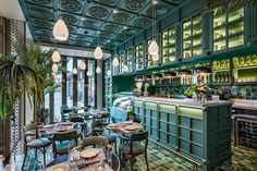Take a look inside some of the world's most beautiful restaurants, from a sumptuous bar in Jaipur to a candy-colored Guatemalan cafe. Restaurant Design, Decoration Restaurant, Luxury Restaurant, Cafe Restaurant, Bar Interior Design, Commercial Interior Design, Cafe Interior, Cafe Design, Kitchen Interior