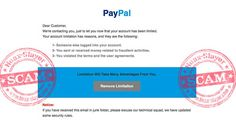 """PayPal """"Verification Required"""" Phishing Scam Email"""