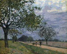 Alfred Sisley (Brit.-Fr., 1839-1899), La Route de Versailles à Louveciennes, huile sur toile, c.1870, New York, Metropolitan Museum of Art