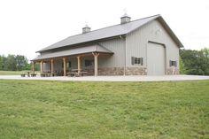 Garage stone dream barn pole barn garage, morton building и Pole Barn Shop, Pole Barn Garage, Pole Barn House Plans, Pole Barn Homes, Shop House Plans, Barn Plans, Garage House, Rv Garage, Pole Barns