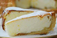 A legfinomabb sült túrótorta Healthy Desserts, Sweet Recipes, Camembert Cheese, Tart, Sweet Tooth, Cheesecake, Favorite Recipes, Sweets, Food