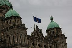 BC legislature donning the Royal Flag!