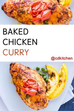 Chicken is simply baked in a buttery curry sauce that keeps the chicken tender while baking and imparts a light curry flavor. The recipe calls for bone-in chicken with skin but you can use skinless, boneless breasts easily - just adjust the cooking time as needed. | CDKitchen.com