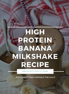 Trying to eat healthy but still craving shakes? Try this super simple high protein banana milkshake recipe that has protein powder to keep you full. Banana Drinks, Banana Milkshake, Milkshake Recipes, Smoothie Recipes, Milkshakes, Weightloss Dinner, Diy Body Butter, Delicious Fruit, Delicious Recipes