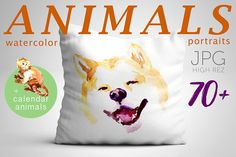 70+ watercolor animals by katflare | store on @creativemarket