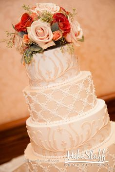 #wedding cake #wedding cake topper #tiered cake Michigan wedding #Mike Staff Productions #wedding details #wedding photography