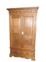 Antique Cabinet Rustic Reclaimed Wood Bedroom Armoire