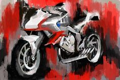 Excited to share this item from my #etsy shop: BMW motorcycle art, Canvas art print, bike, BMW R1000RR, Motorcycle enthusiast decor, large garage decor, bike poster, Christmas gift him