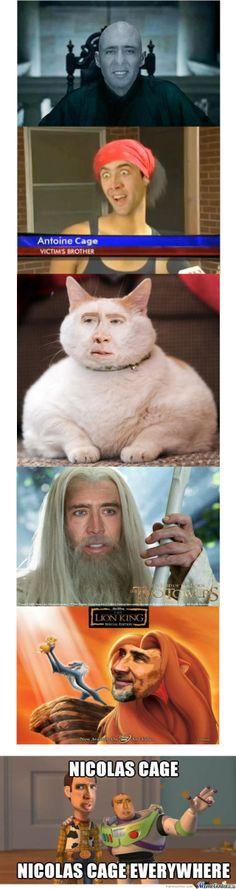Nicolas Cage. Nicolas Cage everywhere. #Cageforpresident