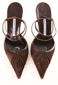 Chocolate Suede Manolo Blahniks - Doesn't Get Much Better Than This ;) haha