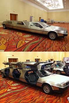 DeLorean Limo shit just got real  hahaha how funny i just stumbled upon this accidentally... this was taken at my old work -- Hilton Disney.  DeLorean Car Show  :)