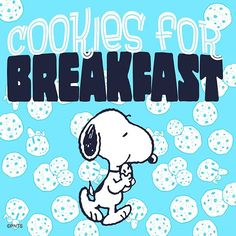 Today seems like a good day to have cookies for breakfast 🍪 Snoopy Cafe, Snoopy And Woodstock, Charlie Brown Cafe, Charlie Brown And Snoopy, Good Morning Snoopy, Good Morning Good Night, Peanuts Cartoon, Peanuts Snoopy, Cartoon Fun