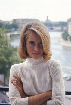 Jane Fonda in Paris, 1963-----loose Turtle-neck. Gotta love it.