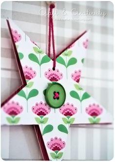 Dagens pyssel, pappersstjärnor – Craft of the Day, paper stars | Craft & Creativity – Pyssel & DIY