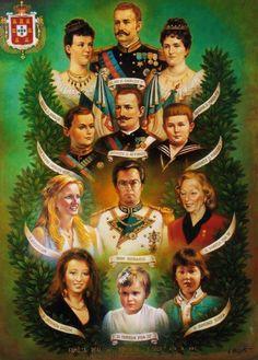 Retrato oficial da Família Real Portuguesa Family Roots, My Family, Rms Titanic, Noble People, Stoner Art, Grand Duke, Napoleonic Wars, Lisbon Portugal, Royal Weddings