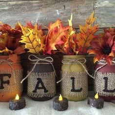 Fall Mason Jars … these are the BEST Autumn Craft Ideas & DIY Home Decor Projects! , Fall Mason Jars…these are the BEST Fall Craft Ideas & DIY Home Decor Projects! , Wedding Source by kriiistennicole Fall Projects, Diy Home Decor Projects, Fall Home Decor, Burlap Fall Decor, Home Crafts Diy Decoration, Diy Crafts Cheap, Diy Fall Crafts, Craft Ideas For The Home, Easy Crafts
