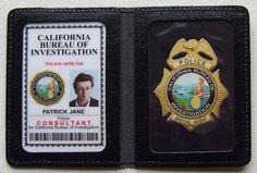 the_mentalist_esprits_criminels_etui_badge_cuir_identification_patrick_jane_ID