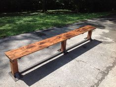 Check out this item in my Etsy shop https://www.etsy.com/listing/213772928/modern-industrial-bench-for-dining-table