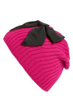 kate spade new york diagonal rib knit beanie available at #Nordstrom
