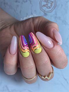 Crazy Nails, Fancy Nails, Stylish Nails, Trendy Nails, Iris Nails, Nail Logo, Manicure, Short Nails Art, Diy Nail Designs