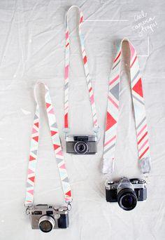 DIY: Correa para cámaras, original, colorida y envidiable