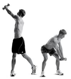 The Spartacus Workout | Men's Health....Cody and I have been doing this for 2 weeks now I and I've noticed a good difference in my muscle tone....it'll kick your butt the first few times you do it but it gets easier from then on...it only takes about 21 minutes if you follow the time constraints and all you need is 2 dumbells...it is a GREAT workout for your butt and thighs!