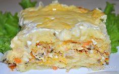 Картофельная запеканка с рыбными консервами – пошаговый фоторецепт