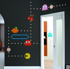 Pac-Man Ghost wall decals, $50 at whatisblik.com