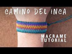 pulseras de hilo ancha   camino del inca   tutorial macrame BY ARTEMANUAL - YouTube