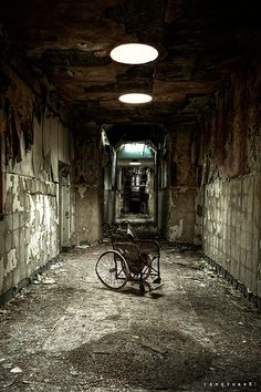 Wheelchair in asylum D by [AndreasS], via Flickr