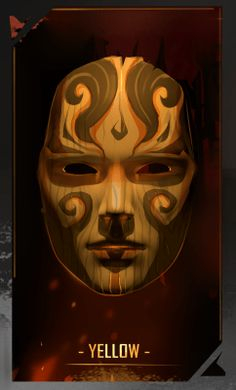 YELLOW mask for FAWKES novel, artwork by @mishmadoodls