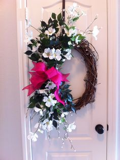 XL oval grapevine wreath ~ spring, summer, everyday or for Mother's Day! Hope's Heart2Heart Gifts, LLC www.HopesHeart2HeartGifts.com