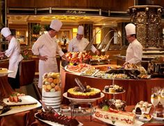 In America, we believe that it's our God-given right to eat as much as we want, whenever we want to,... - Photo Courtesy of Waldorf-Astoria