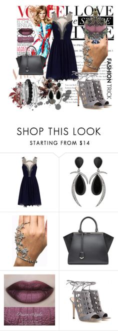 """""""fashion trick"""" by belkisa-kahrimanovic ❤ liked on Polyvore featuring Fendi, She's So, Gianvito Rossi and Avenue"""