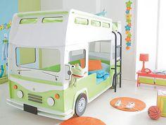 """Etagenbett Autobett Bussbett Kinderbett Spielbett Autobus Bus Bett """"Bussy"""""""