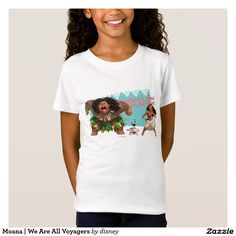 Moana | We Are All Voyagers. Producto disponible en tienda Zazzle. Vestuario, moda. Product available in Zazzle store. Fashion wardrobe. Regalos, Gifts. Link to product: http://www.zazzle.com/moana_we_are_all_voyagers_t_shirt-235109594575908050?CMPN=shareicon&lang=en&social=true&rf=238167879144476949 #camiseta #tshirt #moana