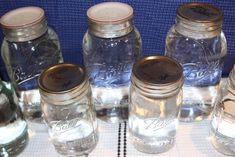 Canning Water  smart idea with the tattler lids and reusing flats. take up the same space as empty jars!
