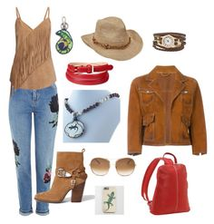 """Get Your Cowgirl On"" by rivendellrockjewelry ❤ liked on Polyvore featuring Topshop, Dsquared2, Scala, Gestuz, Chloé, Le Donne, Aspinal of London, River Island and 3.1 Phillip Lim"