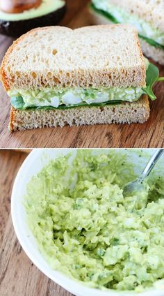 Seriously…one of the best (and healthier) egg salad recipes! Seriously…one of the best (and healthier) egg salad recipes! Healthy Egg Salad, Healthy Snacks, Healthy Eating, Avocado Egg Salad, Avocado Toast, Clean Eating, I Love Food, Good Food, Yummy Food