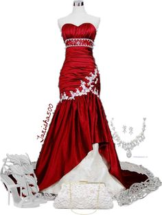 """""""Red Prom Dress :)"""" by tanisha500 ❤ liked on Polyvore"""