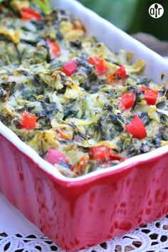 """Holiday Hot Spinach Dip   """"A yummy hot vegetable dip! Serve with your favorite crackers."""""""
