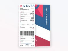 Delta Airlines Eboarding pass Eboarding pass replaces