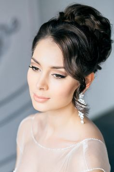 medium length hairstyles wedding high bun