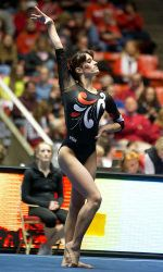 Nansy Damianova tied for first on floor last week.