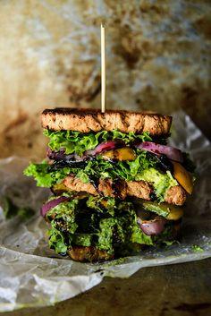 Ultimate Verde Veggie Sandwich- Gluten Free and Vegan from HeatherChristo.com