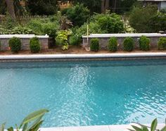 """Sandstone pool liner  Great pool! Does """"black liner"""" imply that this is a vinyl pool? thx - Houzz"""
