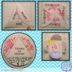 Foldable States of matter, water cycle etc